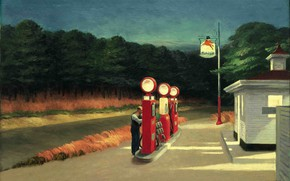 Картинка 1940, Gas, Edward Hopper