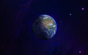 Картинка Звезды, Планета, Туманность, Земля, Space, Earth, Home, Planet, background by StarkitecktDesigns, Fantasy Earth, Flash My …