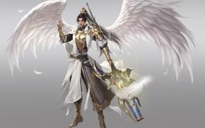 Картинка фон, ангел, парень