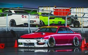 Картинка Silvia, Nissan, Mazda, GT-R, Skyline, RX-7, Nissan Silvia, S14, Mazda RX-7, Japanese, Silvia S14, Mikhail …