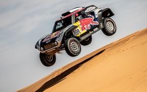 Картинка Песок, Авто, Mini, Машина, Автомобиль, 308, Rally, Dakar, Дакар, Дюны, Ралли, Дюна, Buggy, Багги, X-Raid ...