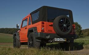 Картинка оранжевый, внедорожник, 2011, 4x4, запасное колесо, Travec, Tecdrah Integrale 1.5 TTi, Renault/Dacia Duster, рамный