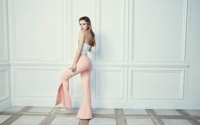 Картинка взгляд, девушка, поза, фото, фигура, брюки, Bella Thorne