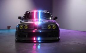 Картинка Авто, Игра, BMW, Машина, БМВ, Фары, NFS, BMW M3, Рендеринг, Concept Art, Передок, BMW E30, …