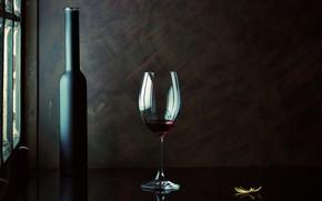 Картинка вино, бокал, бутылка
