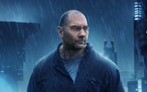 Картинка взгляд, поза, дождь, очки, Dave Bautista, Дэйв Батиста, Бегущий по лезвию 2049, Blade Runner 2049, …