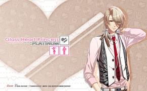 Картинка игра, аниме, арт, парень, Glass Heart Princess