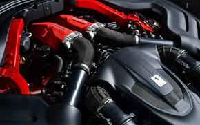 Картинка двигатель, Ferrari, Roma, 2020, V8 twinturbo