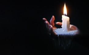 Картинка Огонь, Свеча, Свет, Рука, Кисть, Candle, Освещение, Hand, Lighting, Воск, by Jonathan Jagger, Jonathan Jagger, …