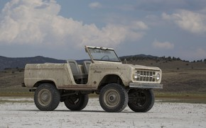Картинка тюнинг, Ford, 1966, 2018, Bronco, ICON Bronco Derelict Roadster, бездверный