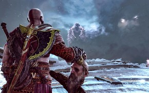 Картинка hate, demigod, god of war, kratos, man, warrior, god, powerful, strong, fury, bald, bearb