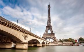 Картинка мост, Эйфелева башня, Париж.
