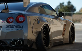 Картинка Nissan, GT-R, style, R35, Wheels, Liberty Walk, Larry Chen