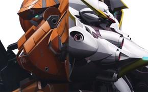 Картинка аниме, роботы, арт, Mobile Suit Gundam