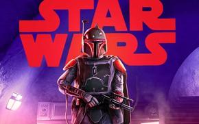 Картинка Star Wars, Art, Concept Art, Boba Fett, Characters, by Pablo Olivera, Pablo Olivera, Star Wars …