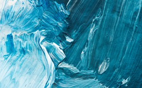 Картинка blue, paint, brushes