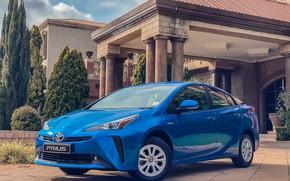 Картинка фото, Голубой, Toyota, Автомобиль, Prius, 2019