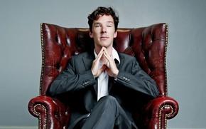 Картинка кресло, парень, молодой, Бенедикт Камбербэтч, Benedict Cumberbatch
