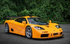 Картинка Orange, Supercar, McLaren F1, 1995, LM