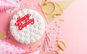 Картинка праздник, торт, день рождение