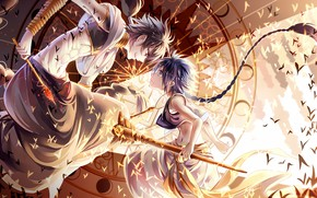 Картинка yellow, art, fight, boys, anime Wallpapers, japaese, anime boys, animemanga