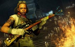 Картинка девушка, оружие, свечи, Zombie Army 4: Dead War