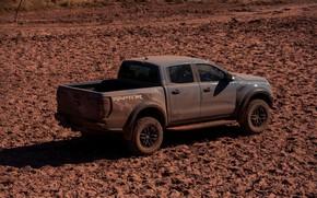 Картинка серый, Ford, вид сбоку, Raptor, пикап, 2018, Ranger