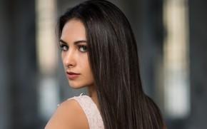 Картинка девушка, модель, волосы