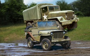 Обои джип, M34 Tactical Truck, Off Road Vehicle, грузовик