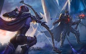 Картинка Sylvanas Windrunner, Bow, Bolvar Fordragon, World of Warcraft: Shadowlands