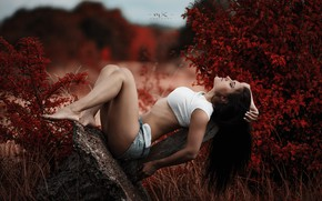 Картинка relax, brunette, pose, Marius Kalinauskas, Diana Stankejeva