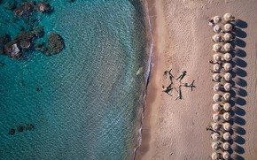 Картинка море, пляж, лето, люди, фигура