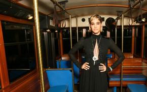 Картинка взгляд, поза, актриса, вагон, фотосессия, фотомодель, танцовщица, Sofia Boutella, София Бутелла