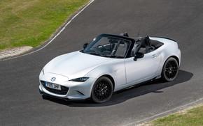 Картинка фото, Белый, Кабриолет, Mazda, Автомобиль, MX-5, 2019, Design Pack