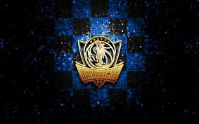 Картинка wallpaper, sport, logo, basketball, NBA, Dallas Mavericks, glitter, checkered