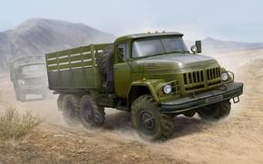 Обои арт, грузовик, ЗИЛ-131