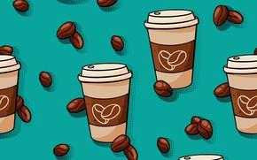 Картинка фон, кофе, текстура, кофейные зёрна