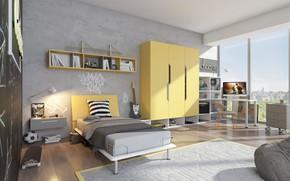 Картинка дизайн, интерьер, жилая комната