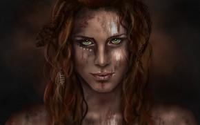 Картинка взгляд, девушка, арт