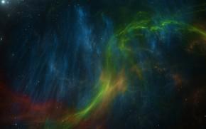 Картинка космос, звезды, туманность, арт, art