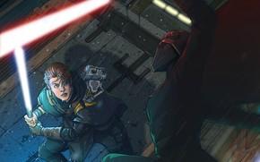 Картинка Star Wars, Звёздные войны, Illustration, Fanart, Lightsaber, Fallen Order, Star Wars Jedi: Fallen Order, Trilla …