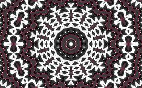 Картинка цветок, узор, круг, снежинка, калейдоскоп