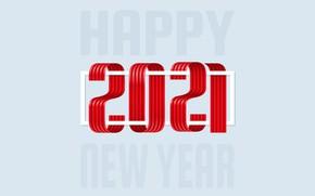 Картинка праздник, цифры, Новый год, New Year, 2021