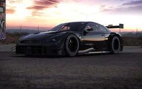 Картинка Авто, Машина, Nissan, GT-R, Рендеринг, Nissan GT-R, NISMO, Sports Car, GT-R NISMO Sports Car, Rostislav …