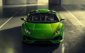 Картинка машина, Lamborghini, оптика, спорткар, Spyder, Evo, Huracan