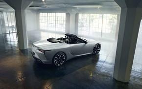 Картинка белый, свет, Lexus, кабриолет, 2019, LC Convertible Concept