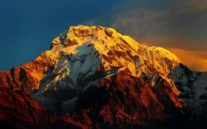 Картинка Nepal, MOUNTAIN, Annapurna Massif Himalayas, 4K ULTRA-HD (2160P)