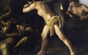 Картинка Francisco de Zurbaran, 1634, Цикл о Геракле, Битва Геракла с Лернейской гидрой