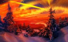 Картинка зима, природа, арт, Orange, фрагмент, Nina Vels