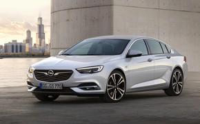 Картинка белый, Insignia, Opel, бетон, Insignia Grand Sport